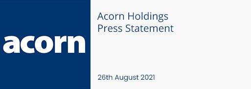 Acorn-Holdings-Press-Statement-26-August-2021